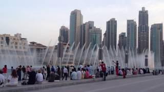 Burj Dubai Khalifa Fountain   Celine Dion-Andrea Bocelli