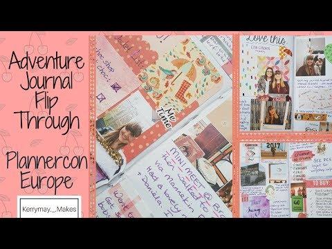 Creative Adventure Journal Flip Through   Plannercon Europe