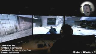 Playing Modern Warfare 3 on PC with nVidia Surround on Huge HDTV Screens