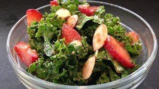 Strawberry Kale Salad Recipe - Hasfit Kale Recipes - Kale Salad Recipes - Kale Recipe