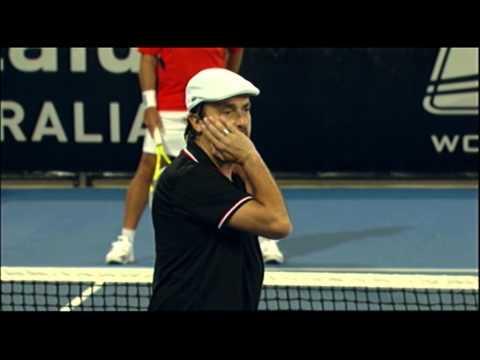 Happy Henri Leconte: World Tennis Challenge Adelaide 2012