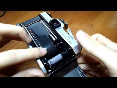 Asahi Pentax Spotmatic II film loading unloading