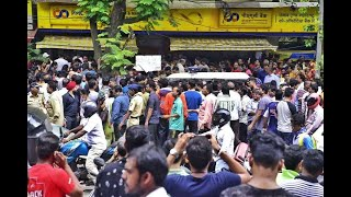 Watch: Chaos outside Mumbai based PMC bank after RBI imposes restrictions