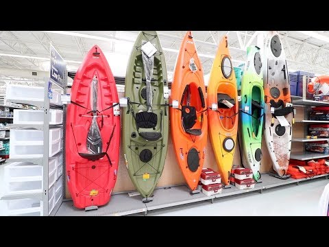 Buying FIRST KAYAK on a WALMART budget!!!! on the WATER
