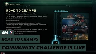 Road to champs: Community Challenge is live