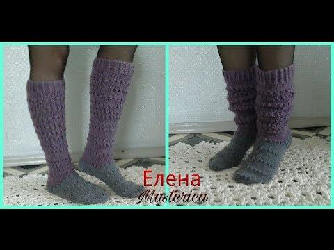 Вязаные гольфы/Елена Masterica/Knitted Socks