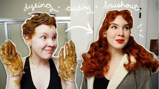 My ENTIRE Hair Routine (dyeing, curling, brushout!)