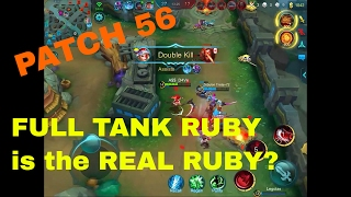 Fixed Ruby-the new BEST TANK? Mobile Legends Ruby 4/0/14 Glorious Legend Ranked Gameplay