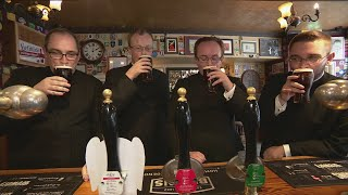 A group of Welsh priests are mistaken for a stag party