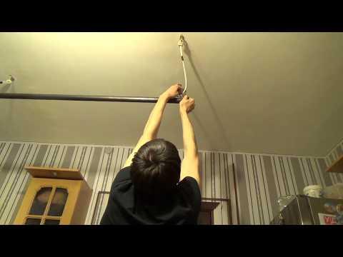 Как сделать турник дома к потолку, Своими руками!