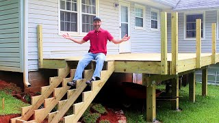 Adding Decking, Stairs, and Posts - Building a Deck Part 2