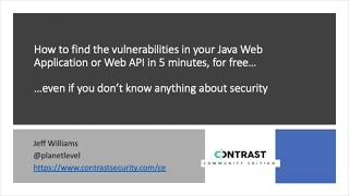 How to test Java web app and web API security the easy way
