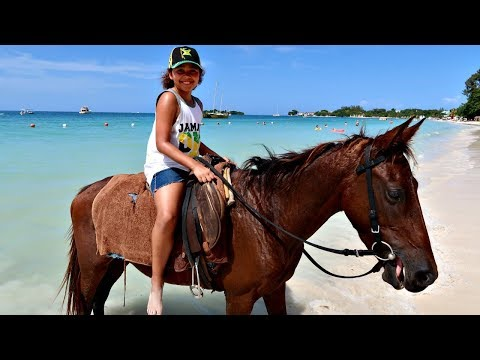 Thumbnail: Kids Horse Riding On The Beach! Family Fun In Jamaica | Toys AndMe