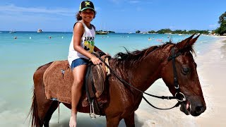 Kids Horse Riding On The Beach! Family Fun In Jamaica | Toys AndMe