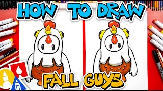 How To Draw Fall Guys Chicken Costume