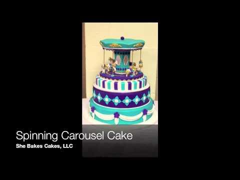 Spinning Carousel Cake Topper
