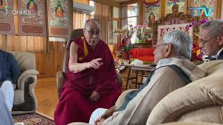 Chief Minister Nitish Kumar meets His Holiness the Dalai Lama