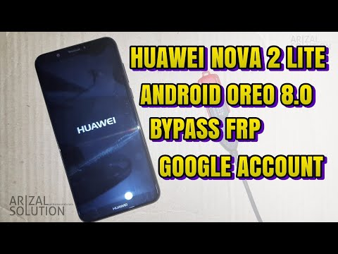Huawei Nova 2 Lite Dual Camera Bypass Frp Google Account Android Oreo 8.0 2018