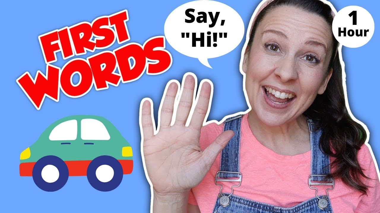 Learn To Talk for Toddlers -  First Words for Babies -  Speech for 1 year old - 2 and 3 - Apraxia