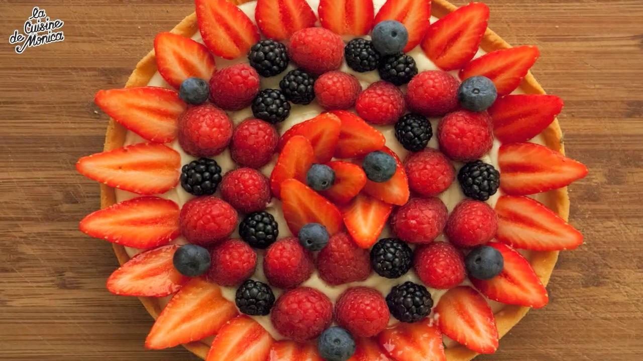 Tarte aux fruits rouges la cuisine de monica youtube for La cuisine de monica