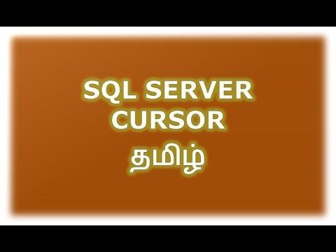SQL Server Cursor Example Tamil - YouTube