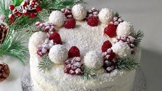 Торт на Новый год Рафаэлло