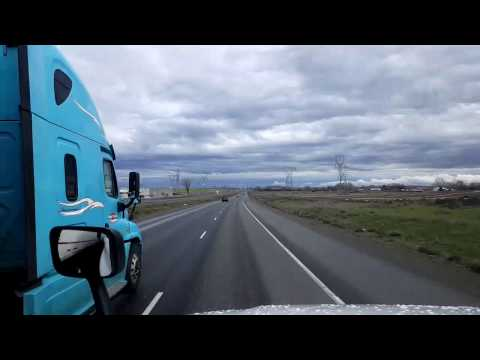 Bigrigtravels Live! Boardman,  Oregon to Blue Mountain Summit - Interstate 84 East March 24, 2017