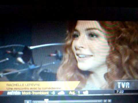 Rachelle Lefevre   on TVA Montreal's morning
