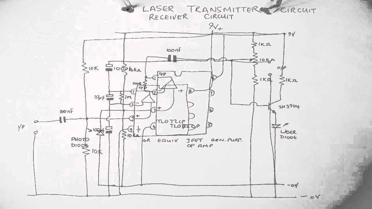 Laser Transmitter Receiver Youtube Opamp Vhf Fm Circuit Diagram