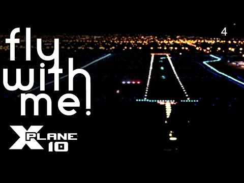 X-Plane 10 #4 - (Flying with Dad) Night Flight to KMEM