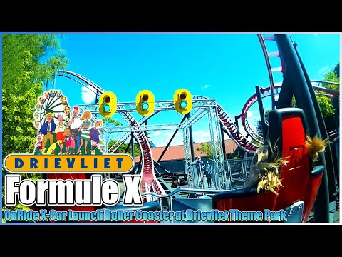 🏁Formule X🏎️Roller Coaster🎢onride POV Drievliet Theme Park The Hague Netherlands V1