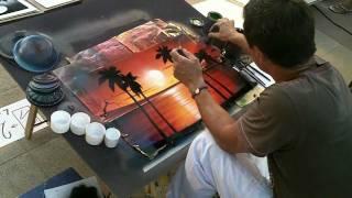 Damir un artiste qui peint a la bombe
