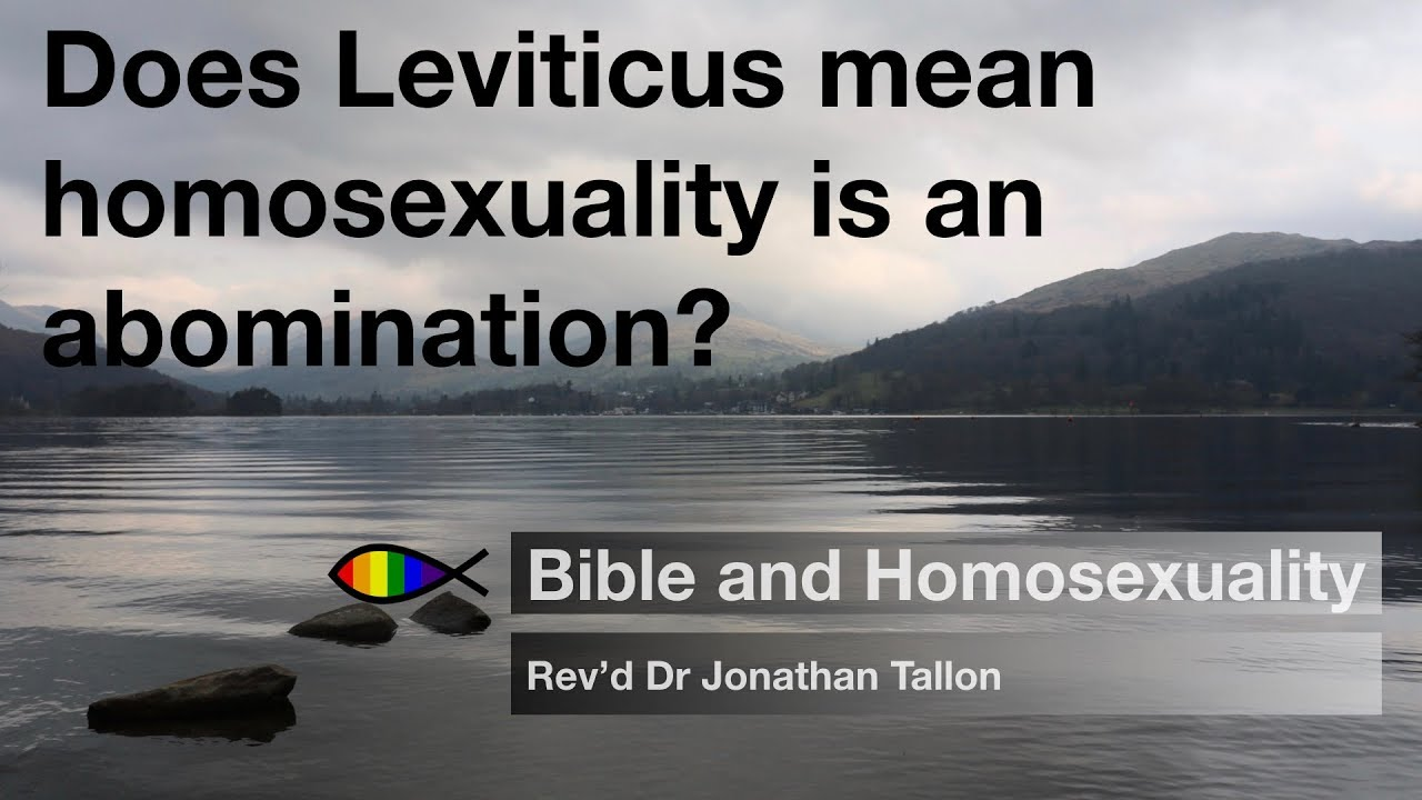 Does Leviticus mean homosexuality is an abomination? | Bible