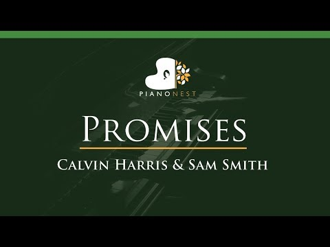Calvin Harris, Sam Smith - Promises - LOWER Key (Piano Karaoke / Sing Along)