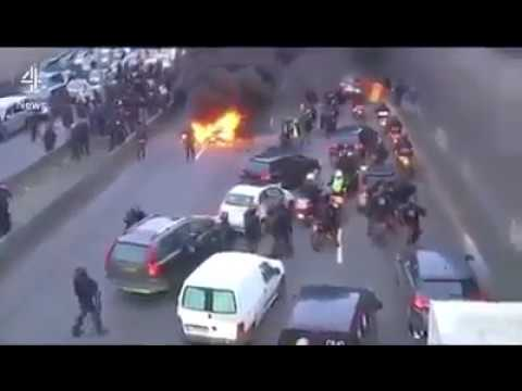 FRANCE - Muslim immigrants are blocking road