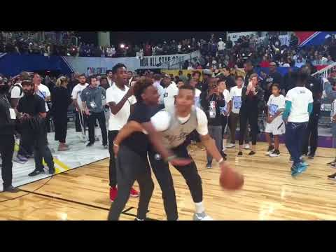 Russell Westbrook Vs LeBron James Jr in a 1 on 1 ! Russ takes him to the post!