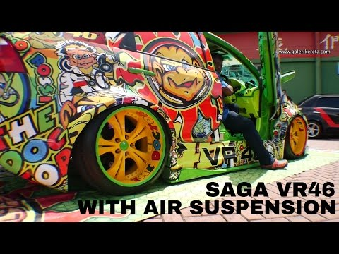 Proton Saga VR46 with Air Suspension | Auto show Zero Carbon 2016 Econsave Seremban