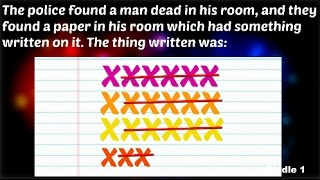 3 Murder Mystery Riddles (Only 2% can solve)