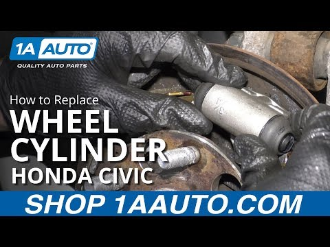 How to Replace Rear Wheel Cylinder 06-11 Honda Civic