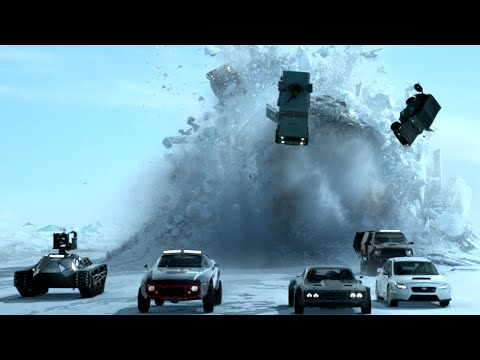 Download Fast and furious snow chase HD with Yalili Yalila Arabic song remix   Fate of furious chase part 3