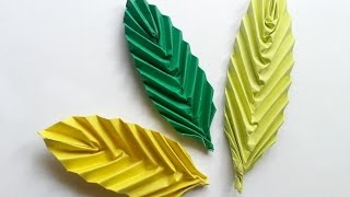 How To Create a Simple Origami Leaf - DIY Crafts Tutorial - Guidecentral