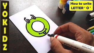 WRITE THE LETTER O - ABC WRITING FOR KIDS - ALPHABET HANDWRITING