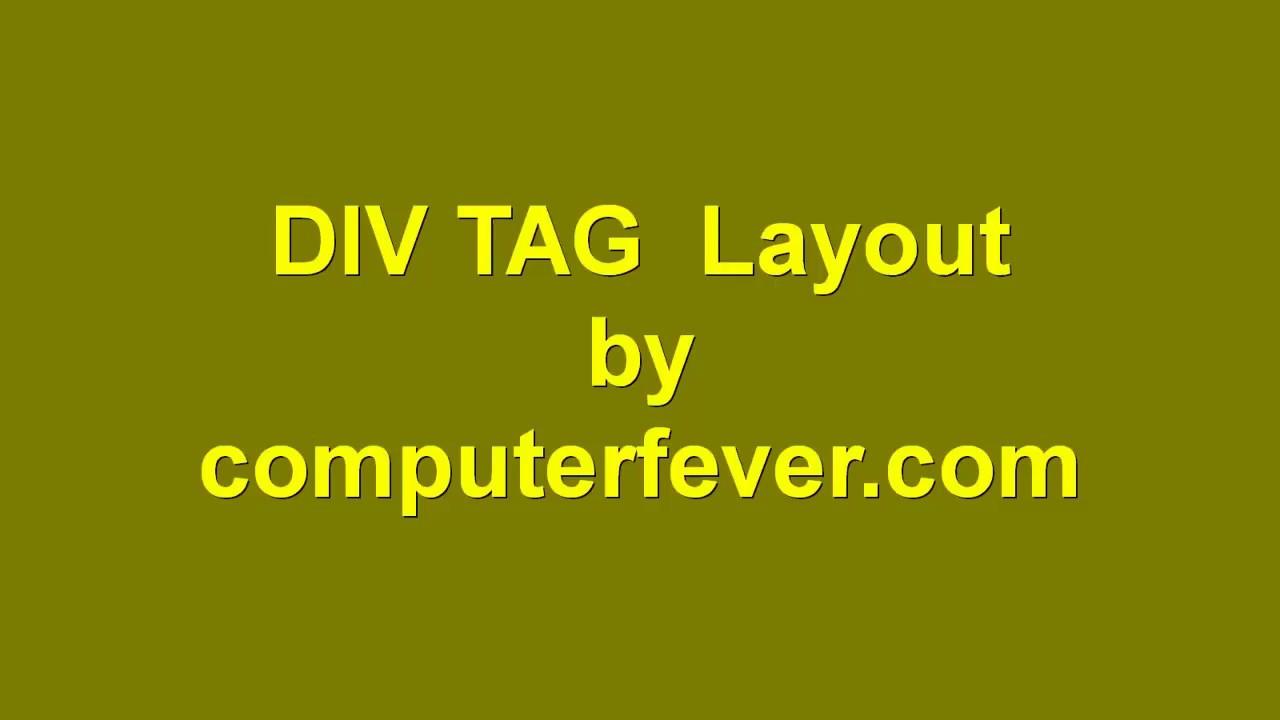 Div tag layout part 1 Urdu/Hindi - YouTube