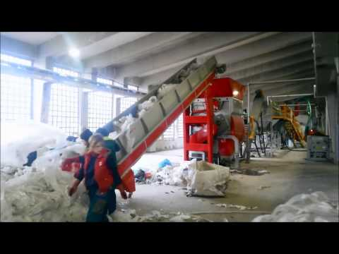 1000 kg/h LLDPE WASHING + GRANULATING LINE