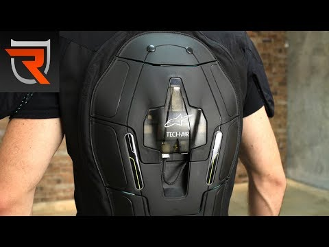Alpinestars Tech-Air Race Motorcycle Vest Airbag System Product Spotlight Video | Riders Domain