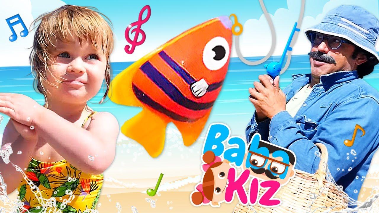 Kırmızı balık şarkısı. Bianka ile en sevilen bebek şarkıları.  Baba kız oyunu