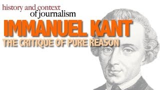 IMMANUEL KANT : CRITIQUE OF PURE REASON