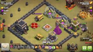 Clash Of Clans - Testando o layout CV9 Anti-PT #4/ testing TH9 layout war anti-PT #4