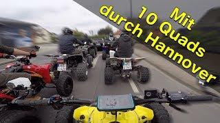 Mit 10 Quads durch Hannover / Quad-Vlog ToxiQtime