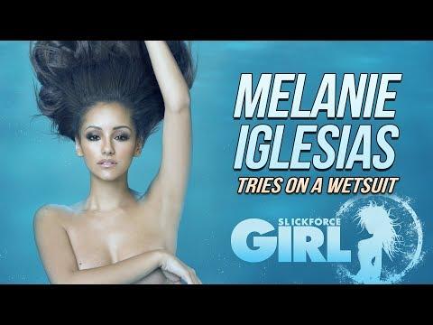 Melanie Iglesias Tries on a Wetsuit